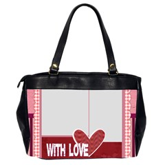 With Love By Mac Book   Oversize Office Handbag (2 Sides)   Gtj3ut2gbxkt   Www Artscow Com Back