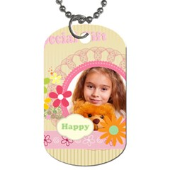 Spring By Joely   Dog Tag (two Sides)   8wbdc7oggmv5   Www Artscow Com Back