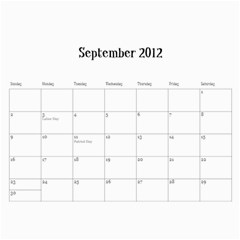 2012cal By Jacquie    Wall Calendar 11  X 8 5  (12 Months)   Ipbidcy9syv5   Www Artscow Com Sep 2012