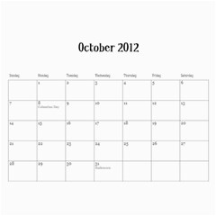 2012cal By Jacquie    Wall Calendar 11  X 8 5  (12 Months)   Ipbidcy9syv5   Www Artscow Com Oct 2012