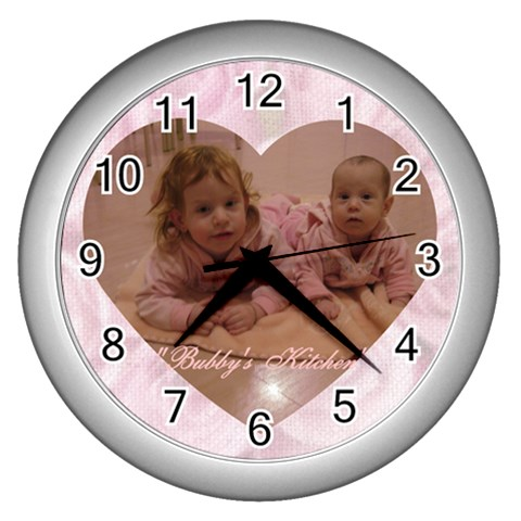 Henchy By Esther Fried   Wall Clock (silver)   8dlfyany7ka9   Www Artscow Com Front