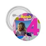 4 Birthday girl Button 2.25 - 2.25  Button