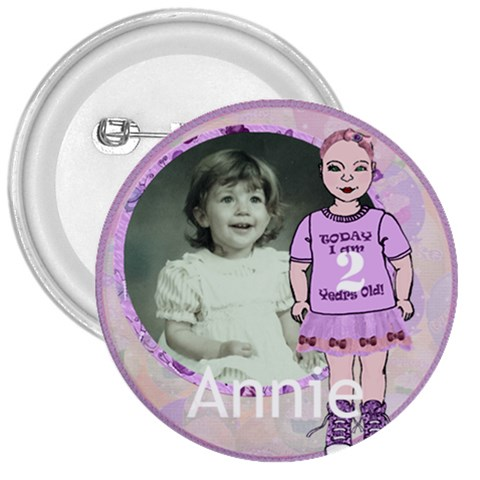 2 Years Old Girl By Claire Mcallen   3  Button   R4ak1w8vmipn   Www Artscow Com Front