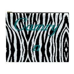 Camryn Zebra Bag By Sherry Olford   Cosmetic Bag (xl)   W3a1t4oe89rf   Www Artscow Com Front