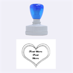 Heart Stamp - Rubber Stamp Oval