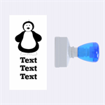 Penguin Stamp - Rubber Stamp (Medium)