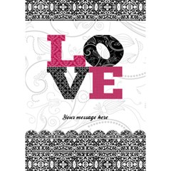 Black, White, And Pink Love 3d Card By Klh   Love 3d Greeting Card (7x5)   Ztp52j9gwf7f   Www Artscow Com Inside