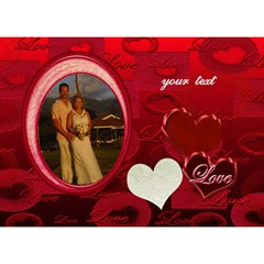 I Heart You Red 3d Card By Ellan   Heart 3d Greeting Card (7x5)   Ykjdtfrerume   Www Artscow Com Front