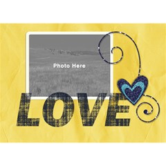 Yellow Love 3d By Albums To Remember   I Love You 3d Greeting Card (7x5)   Trxi3sw5ww6g   Www Artscow Com Front