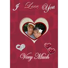 I Love You Very Much 3d Card By Ellan   Heart 3d Greeting Card (7x5)   4n0j7ij3r9ed   Www Artscow Com Inside