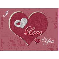 Love You This Much Pink 3d Card By Ellan   Heart 3d Greeting Card (7x5)   W0bfwyp7se88   Www Artscow Com Front