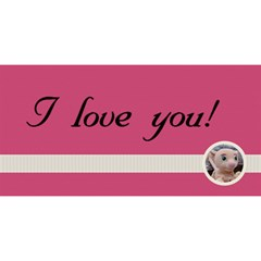 I Love You/twin Hearts 3d Card By Mim   Twin Heart Bottom 3d Greeting Card (8x4)   G1ookseajd9n   Www Artscow Com Front