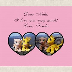I Love You/twin Hearts 3d Card By Mim   Twin Heart Bottom 3d Greeting Card (8x4)   G1ookseajd9n   Www Artscow Com Inside