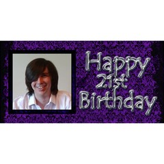 Happy 21st Birthday 3d Card By Claire Mcallen   Happy Birthday 3d Greeting Card (8x4)   86xzul5yttpz   Www Artscow Com Front