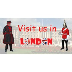 Visit Us In London By Rivke   You Are Invited 3d Greeting Card (8x4)   57v5y3ityey5   Www Artscow Com Front