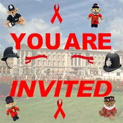 Visit Us In London By Rivke   You Are Invited 3d Greeting Card (8x4)   57v5y3ityey5   Www Artscow Com Inside
