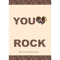You Rock 3d Card By Deborah   You Rock 3d Greeting Card (7x5)   Hreq6r55dho8   Www Artscow Com Inside