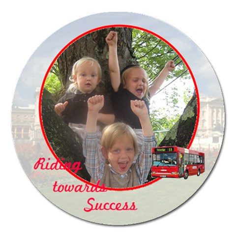Riding Towards Success By Rivke   Magnet 5  (round)   Lbiko4w1vqwq   Www Artscow Com Front