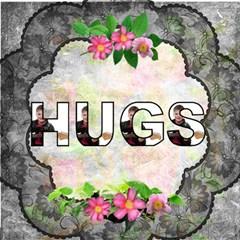 Black Lace Hugs 3d Card By Catvinnat   Hugs 3d Greeting Card (8x4)   Hf1vqa1h5p9l   Www Artscow Com Inside