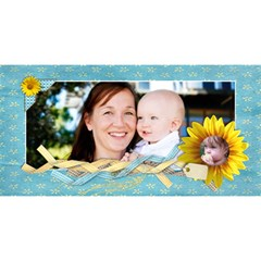3d Mom Card, Sunflowers By Mikki   Mom 3d Greeting Card (8x4)   80lo9qdsfyf3   Www Artscow Com Front