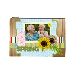Spring By Joely   Cosmetic Bag (large)   F9duhh4bz0af   Www Artscow Com Front
