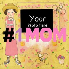1 Mom 1 By Lillyskite   #1 Mom 3d Greeting Cards (8x4)   Ty6wo3n9hhym   Www Artscow Com Inside