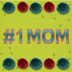 Mom By Kathi Bothwell   #1 Mom 3d Greeting Cards (8x4)   4ojp8eo1v597   Www Artscow Com Inside