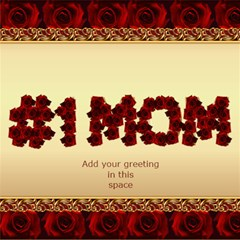 No1 Mom In Roses 3d Card By Deborah   #1 Mom 3d Greeting Cards (8x4)   Vgpjizyrylkn   Www Artscow Com Inside