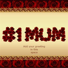 No1 Mum In Roses 3d Card By Deborah   #1 Mom 3d Greeting Cards (8x4)   3506wf2o8w8r   Www Artscow Com Inside
