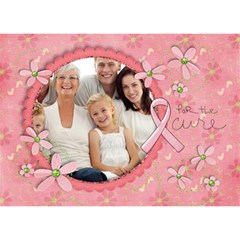 Hope 3d Card, Breast Cancer Awareness By Mikki   Hope 3d Greeting Card (7x5)   N2u1r8d2crq1   Www Artscow Com Front
