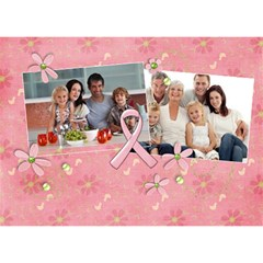 Hope 3d Card, Breast Cancer Awareness By Mikki   Hope 3d Greeting Card (7x5)   N2u1r8d2crq1   Www Artscow Com Back