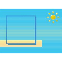 Boy 3d Card By Daniela   Boy 3d Greeting Card (7x5)   6ls0nt6ulhbu   Www Artscow Com Front