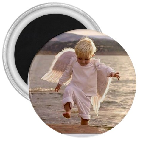 Angel Baby By Amazing Moi   3  Magnet   Kad9r4u4uafj   Www Artscow Com Front