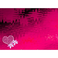 Memories Heart Hot Pink 3d Card Template By Ellan   Heart 3d Greeting Card (7x5)   Rgy2hyqent6o   Www Artscow Com Back