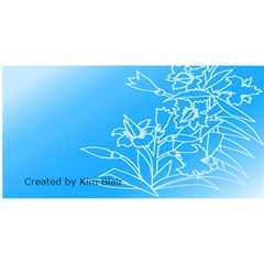 Easter Card 1 By Kim Blair   Believe 3d Greeting Card (8x4)   Lndw3mvbu0k4   Www Artscow Com Back