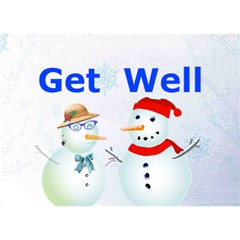 Get Well By Kim Blair   Get Well 3d Greeting Card (7x5)   7tke7qkj0m4k   Www Artscow Com Front