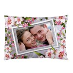 Pink floral Pilow case (2 sided) - Pillow Case (Two Sides)
