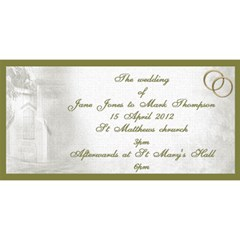 Our Wedding Invitation 3d Card (8x4) By Deborah   You Are Invited 3d Greeting Card (8x4)   2ju5ykomyp2r   Www Artscow Com Front
