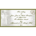 Our Wedding invitation 3D Card (8x4) - YOU ARE INVITED 3D Greeting Card (8x4)