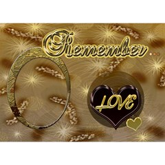 Remember   I Love Our Life 3d Card By Ellan   Love 3d Greeting Card (7x5)   Oi3q27vh0qz1   Www Artscow Com Front