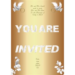 Our Wedding Invitation 2 3d (7x5) By Deborah   You Are Invited 3d Greeting Card (7x5)   3hin1mjqpa0p   Www Artscow Com Inside
