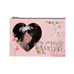 Pretty Woman Large Cosmetic Bag By Catvinnat   Cosmetic Bag (large)   C8hs5bdnxc64   Www Artscow Com Front