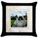 Pearl Border Cushion cover - Throw Pillow Case (Black)