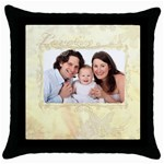 Family love Cushion cover - Throw Pillow Case (Black)