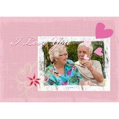 I Love You By Joely   Love Bottom 3d Greeting Card (7x5)   Yn6q0audhqze   Www Artscow Com Front