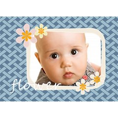Apple Baby By Joely   Apple 3d Greeting Card (7x5)   9sun0bvs0hk3   Www Artscow Com Front
