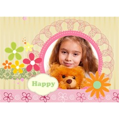 Happy By Joely   Peace Sign 3d Greeting Card (7x5)   Ikbb9dymgu7r   Www Artscow Com Front