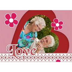 Love By Joely   Heart 3d Greeting Card (7x5)   Ax6lomonu6y3   Www Artscow Com Front