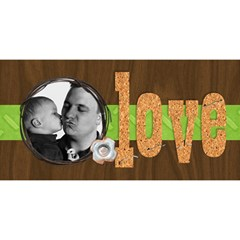 #1 Dad 3d Card (8x4) Father By Mikki   #1 Dad 3d Greeting Card (8x4)   E0t52il8pqvc   Www Artscow Com Front