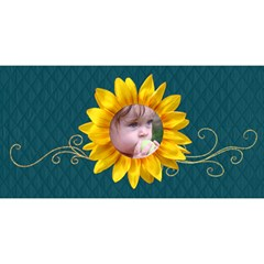 Happy Birthday 3d Card (8x4) Sunflowers By Mikki   Happy Birthday 3d Greeting Card (8x4)   1ayykj492wj6   Www Artscow Com Front